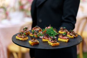 holding canapes4 300x200 - David Tetura Event